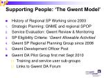 supporting people the gwent model
