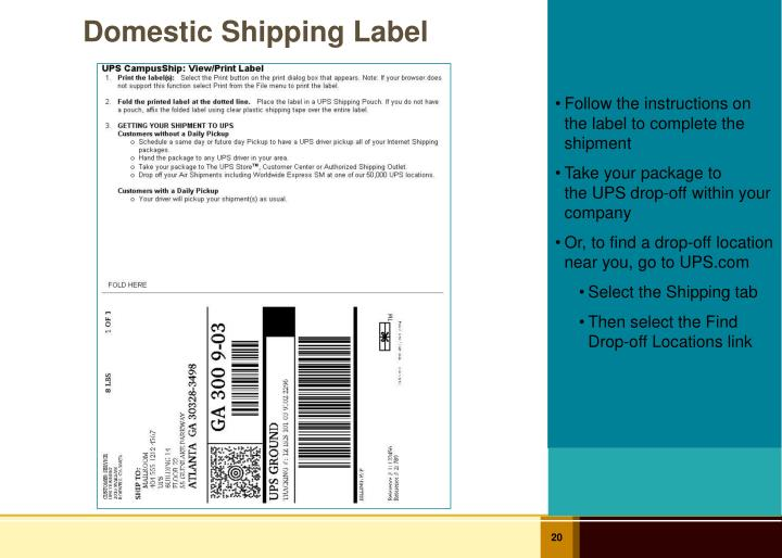 Domestic Shipping Label