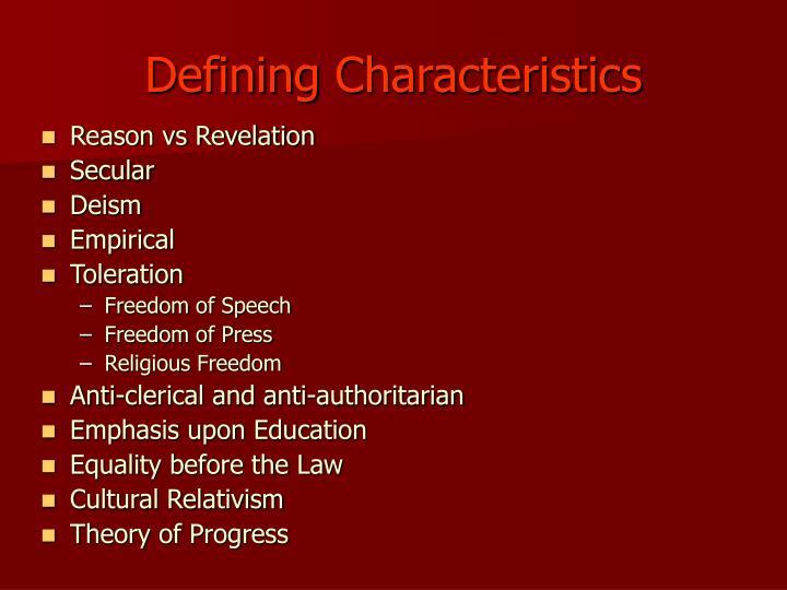 Defining