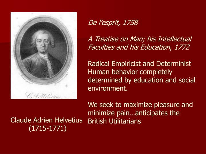 De l'esprit, 1758