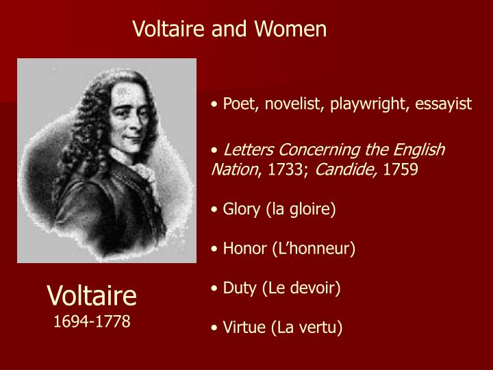 Voltaire and Women