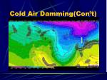 cold air damming con t