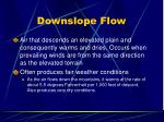 downslope flow