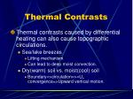 thermal contrasts