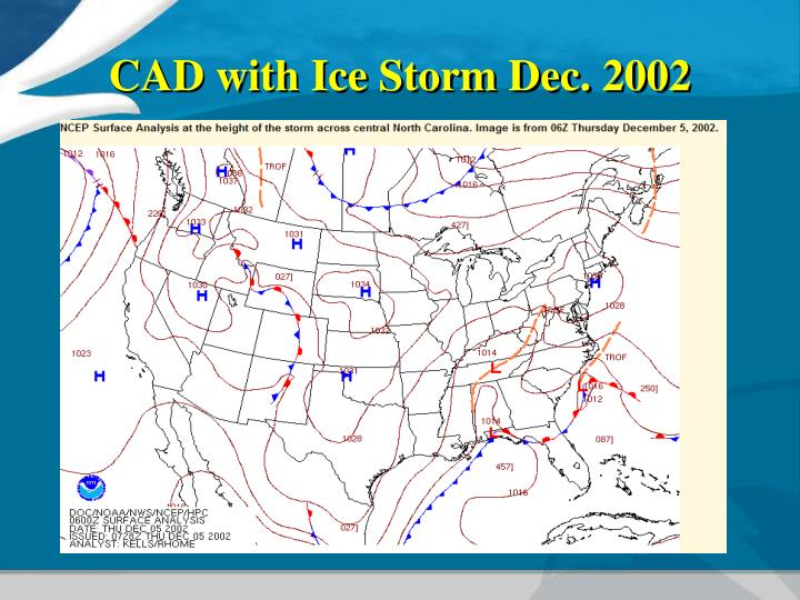 CAD with Ice Storm Dec. 2002