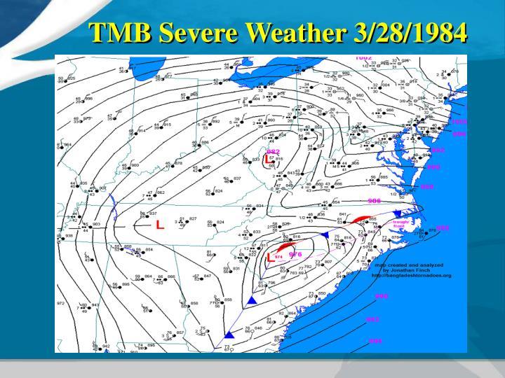 TMB Severe Weather 3/28/1984