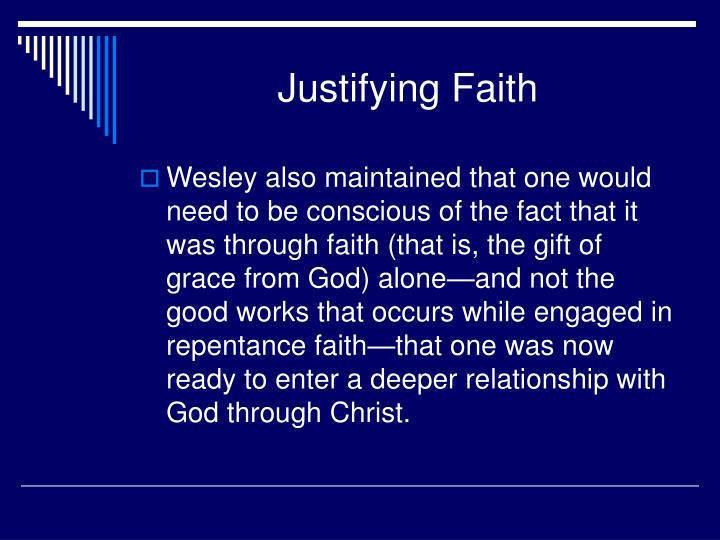 Justifying Faith