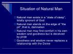 situation of natural man