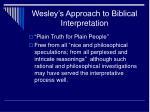 wesley s approach to biblical interpretation2