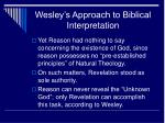 wesley s approach to biblical interpretation5