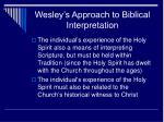 wesley s approach to biblical interpretation7