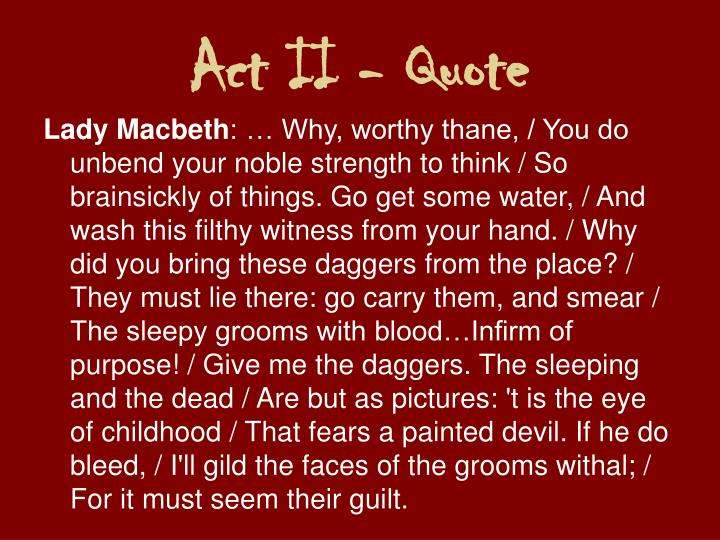 Act II - Quote