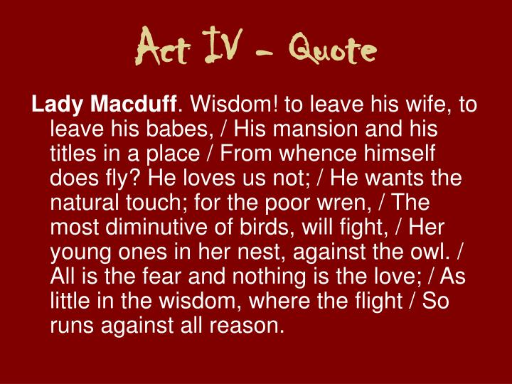 Act IV - Quote