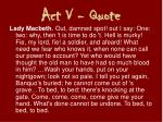 act v quote