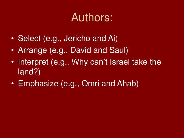 Authors: