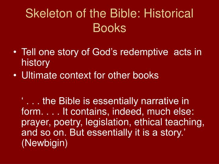Skeleton of the Bible: Historical Books