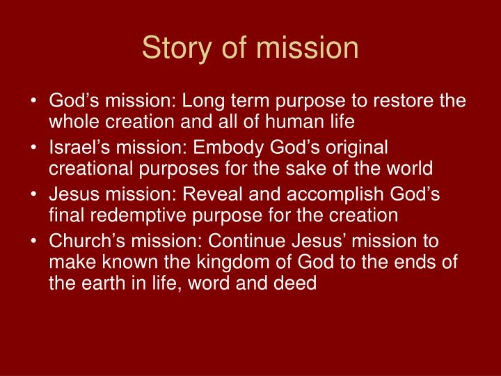 Story of mission