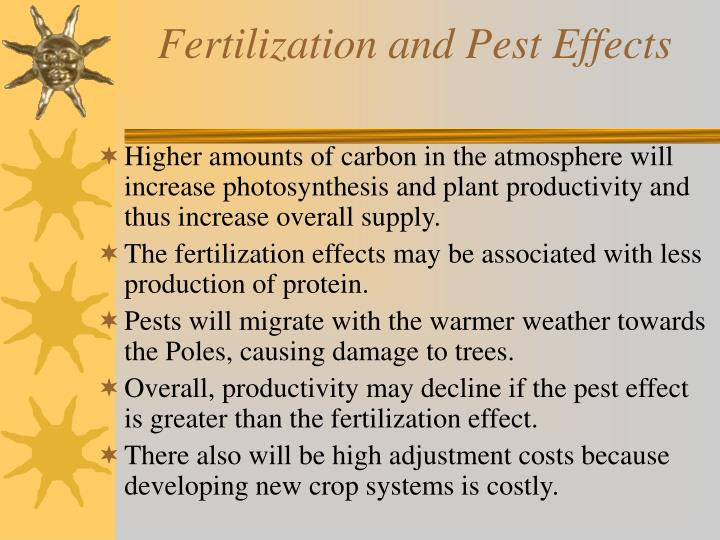 Fertilization and Pest Effects
