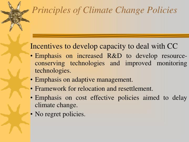 Principles of Climate Change Policies
