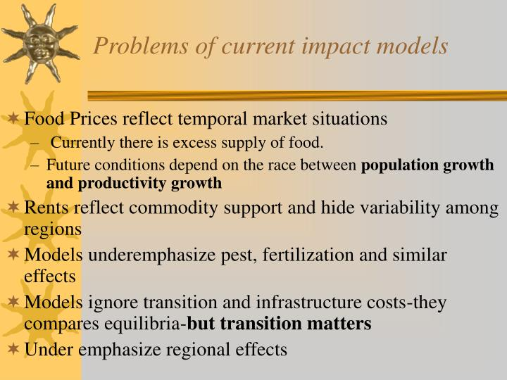 Problems of current impact models