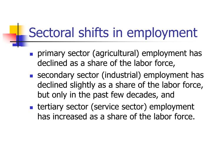 Sectoral shifts in employment