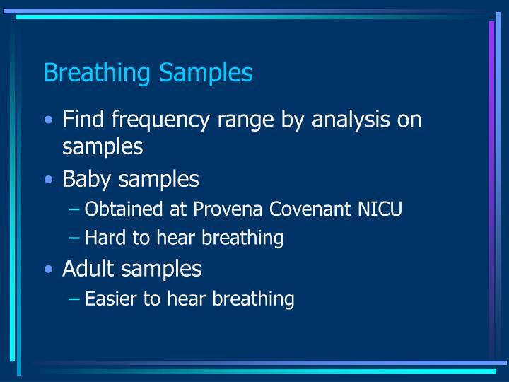 Breathing Samples