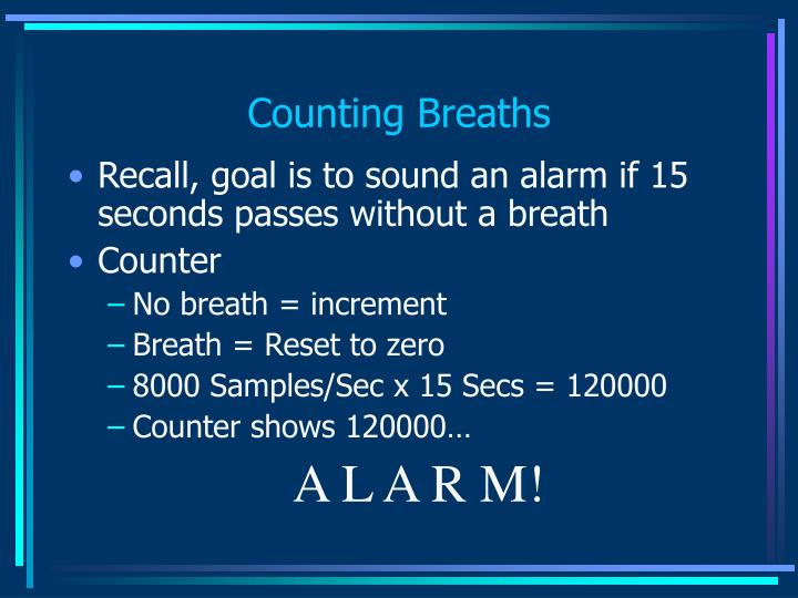 Counting Breaths
