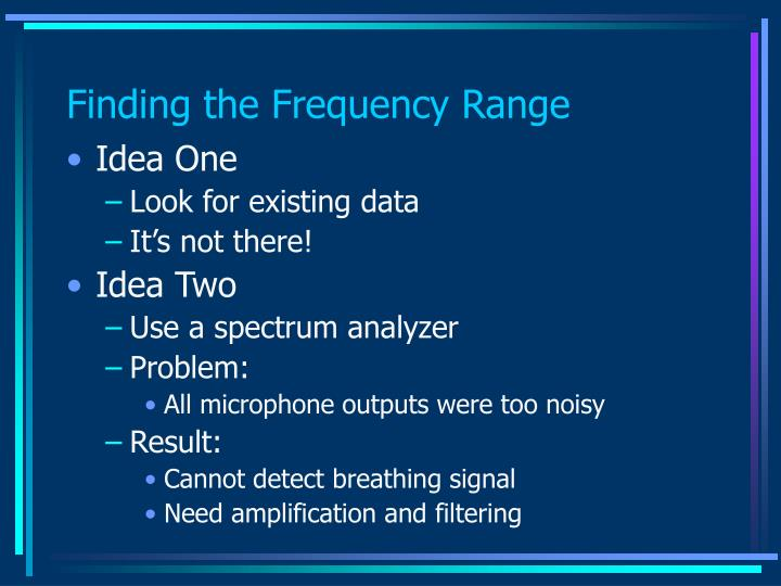 Finding the Frequency Range