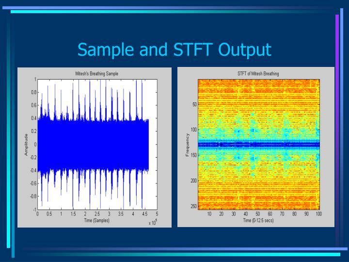Sample and STFT Output