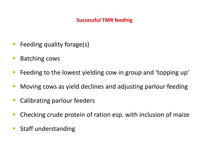Feeding quality forage(s)