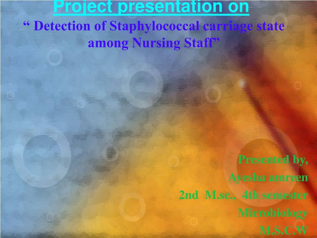 Project presentation on