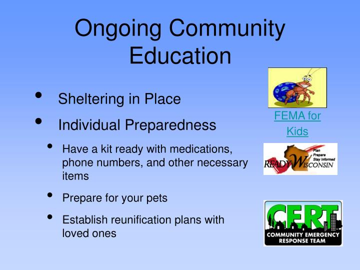 Ongoing Community Education