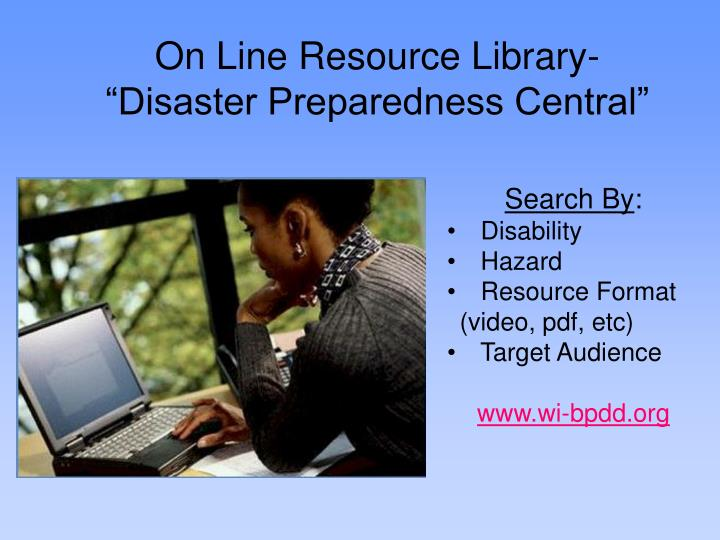 On Line Resource Library-