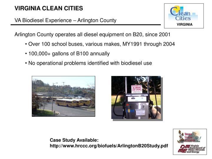 VA Biodiesel Experience – Arlington County