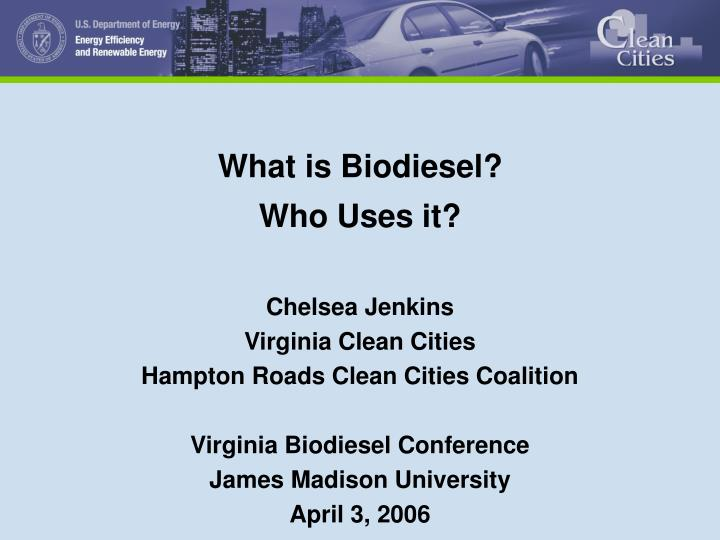 what is biodiesel who uses it