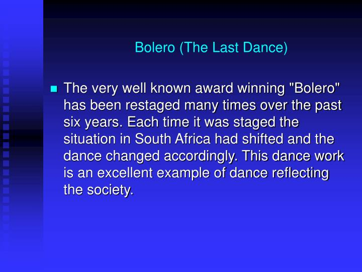 Bolero (The Last Dance)