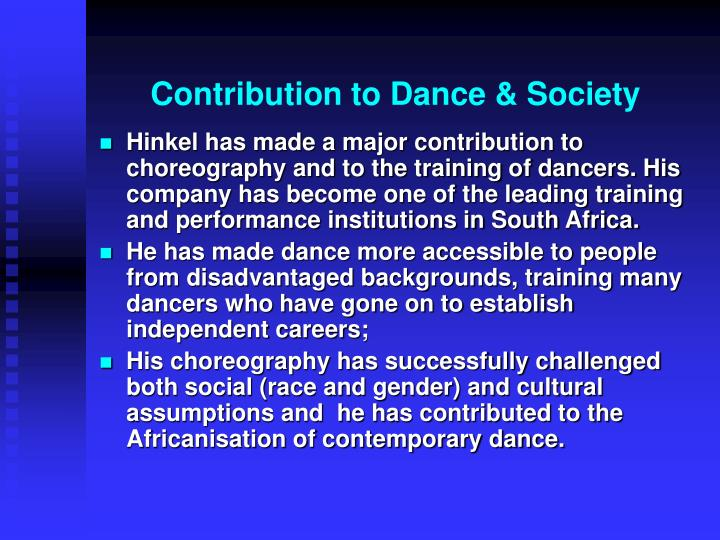 Contribution to Dance & Society