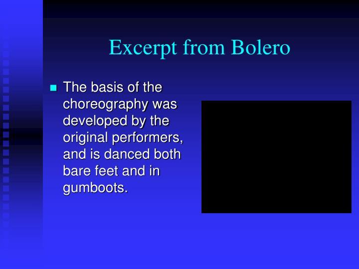 Excerpt from Bolero