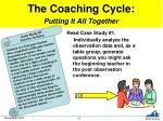 the coaching cycle putting it all together