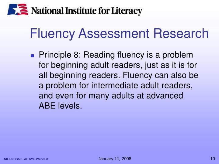 Fluency Assessment Research