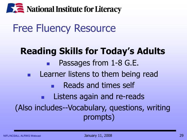 Free Fluency Resource