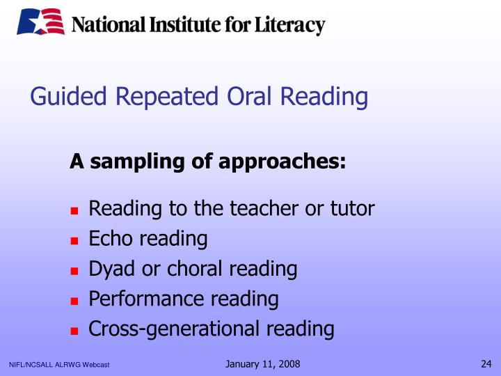 Guided Repeated Oral Reading