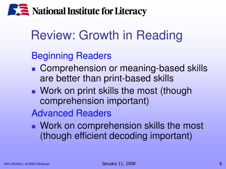 Review: Growth in Reading