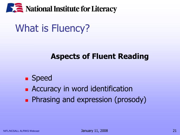 What is Fluency?