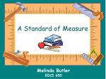 a standard of measure