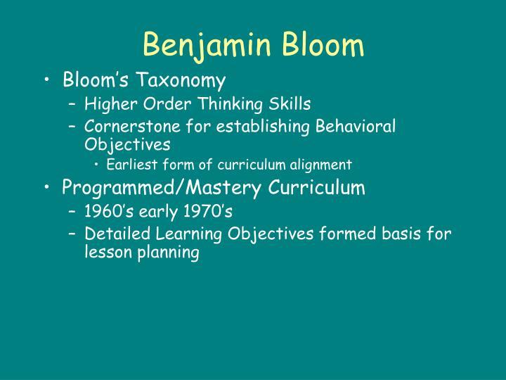 Benjamin Bloom