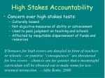 high stakes accountability
