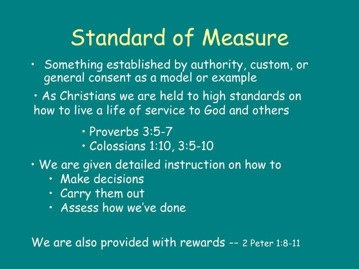 Standard of Measure