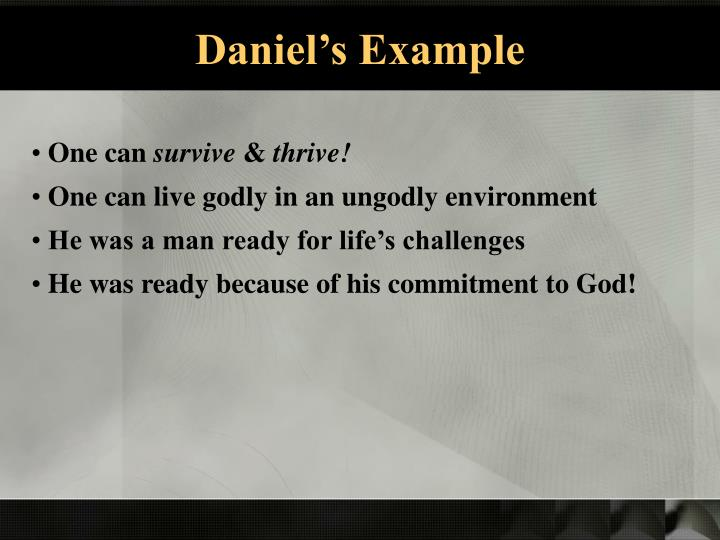 Daniel's Example
