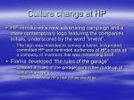 culture change at hp
